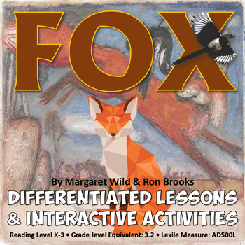 FOX Reading Lesson Activities with Interactive Notebook /