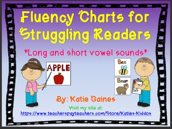 UPDATED Fluency Charts and Sight Word Cards for Struggling Readers!