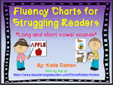UPDATED Fluency Charts and Sight Word Cards for Struggling
