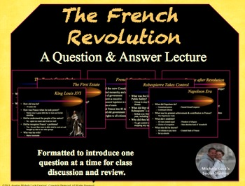 UPDATED! French Revolution through Napoleon Ppt Content Standards Lecture Notes