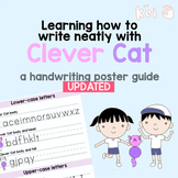 UPDATED Learning how to write neatly with Clever Cat - a handwriting poster guid