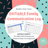 UPDATED - Parent Communication Log For Your Google Drive -
