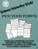 UPDATED!!!! Pick Your Points Student Choice Activities for