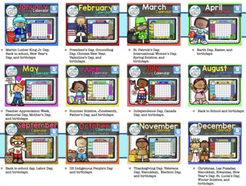 SMARTBOARD Calendar Math- 13 Month Set English