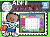 SMARTBOARD Calendar Math-Abril (Spanish)