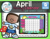 SMARTBOARD Calendar Math-April (English)