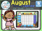 SMARTBOARD Calendar Math- August (English)