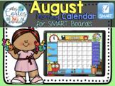 SMARTBOARD Calendar Math- August (English)