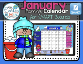 SMARTBOARD Calendar Math-January  (English)