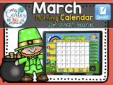 SMARTBOARD Calendar Math- March  (English)