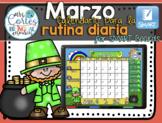 #TeachMoreSpanish SMARTBOARD Calendar Math- Marzo  (Spanish)