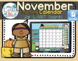 SMARTBOARD Calendar Math-  November  (English)