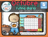 UPDATED!! SMARTBOARD Calendar Math-Octubre  (Spanish)