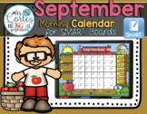 SMARTBOARD Calendar Math-September  (English)