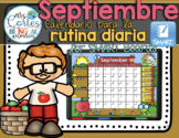 SMARTBOARD Calendar Math- Septiembre (Spanish)