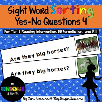 Sight Word Sorting: Yes-No Questions 4