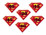 UPDATED: Super Hero Clock Numbers