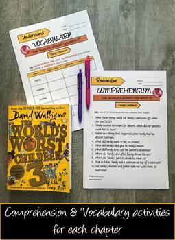 UPDATED: The World's Worst Children 3 Workbook & Extension Activities