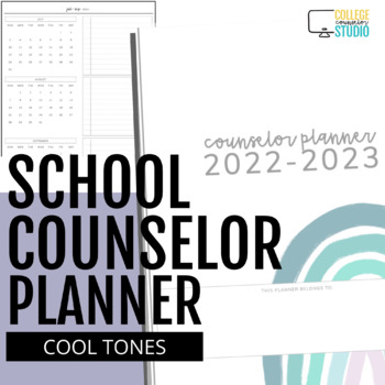 2018 - 2019 Ultimate School Counselor Planner (Believe Theme)