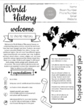 UPDATED! World History Syllabus - Completely Editable now in Google Slides!