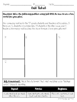 UPESC Addition Word Problems Mini Lesson Packet