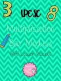 UPESC Multiplication Bar Models Mini Lesson Packet
