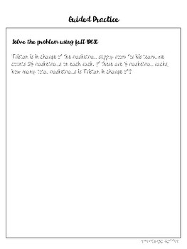 UPESC Multiplication Word Problems Mini Lesson Packet