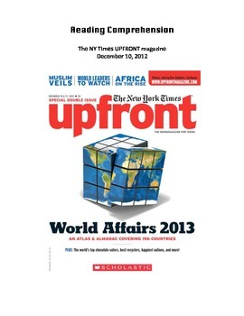 UPFRONT Magazine- Reading Comprehension WS: Gross Domestic