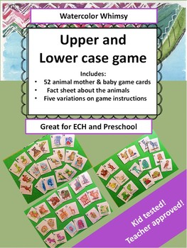 UPPER AND LOWER CASE LETTERS GAME. Letter recognation game