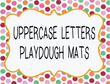 UPPER CASE LETTERS PLAY DOUGH MATS