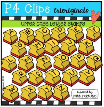 UPPER CASE Letter Stamps (P4 Clips Trioriginals Clip Art)