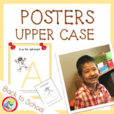 UPPER CASE Posters with Coloring Pages - PEACH (pdf and png)