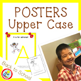 UPPER CASE Posters with Coloring Pages - YELLOW (pdf and png)