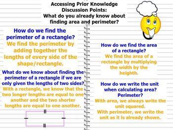 MATH PROBLEM SOLVING ~GRADES 4,5,6~ AREA PERIMETER FLOOR PLANS ~ CCSS PROMETHEAN