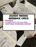 UPPER ELEMENTARY WRITING REFERENCE OFFICE- EDITABLE/LUCY C