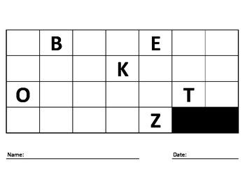 UPPERCASE Alphabet Fill In