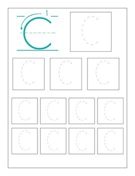 UPPERCASE Alphabet Sizing Practice Sheets