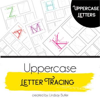 UPPERCASE Alphabet Sizing Practice Sheets