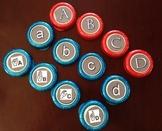 UPPERCASE Alphabet letters for bottle caps.