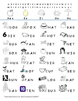 UPPERCASE Consonant Vowel Consonant words Reading with Pictures Centers
