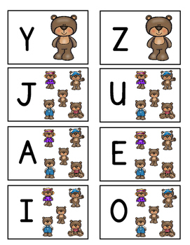 UPPERCASE Letter Identification Game (Bear Theme)