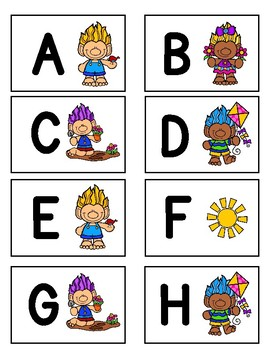 UPPERCASE Letter Identification Game (Spring Trolls)