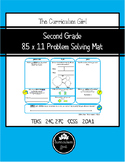 2nd Grade 8.5x11 Problem Solving Mat (2.4C, 2.7C, 2.OA.1)