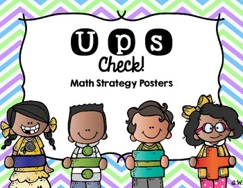 UPS Check!  Math Strategy Posters