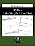 UPS-Check Problem Solving Mat & Student Sheet for Middle School