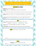 UPS Check Strategy for Solving Math Word Problems