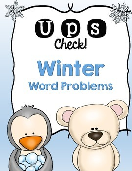UPS Check! Winter Word Problems