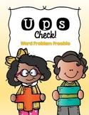 UPS Check Word Problem Freebie