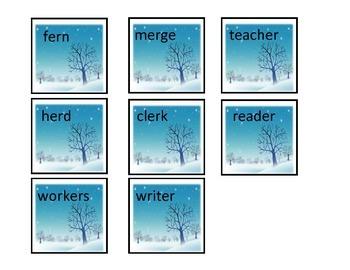 """""""UR"""" & """"ER"""" Controlled Vowels: File Folder Activity"""