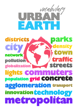 URBAN Earth Vocabulary Poster A4